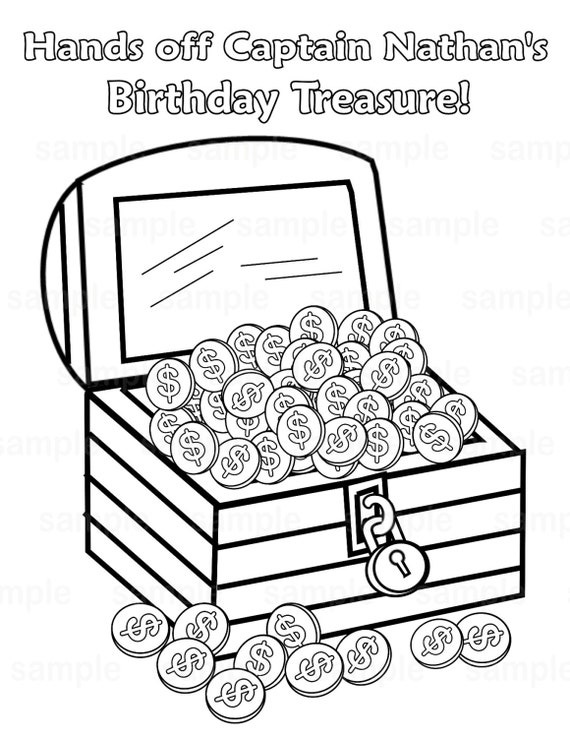 Pirate treasure coloring pages - photo#42