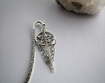 Spike hair accessories, bookmark, hair accessories, Pentagram, Gothic jewelry, wicca, witchy