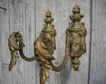 Antique bronze curtain swag holders.  Pair of swag holders.