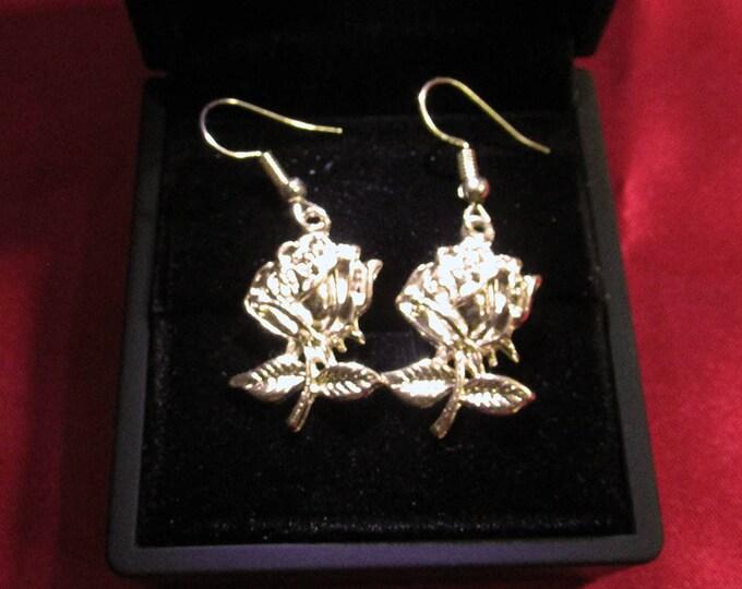 Champagne Gold Dangle Earrings Jewelry