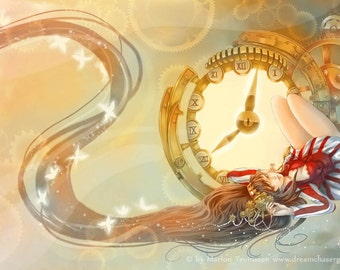 Dreamtime signed steampunk art print