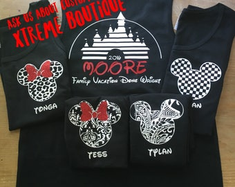 Disney Family Shirts I Matching Disney Shirts I Mickey and Minnie Head Couples Shirts I Disney Tank Tops I Custom Disney Trip Shirt I Cruise