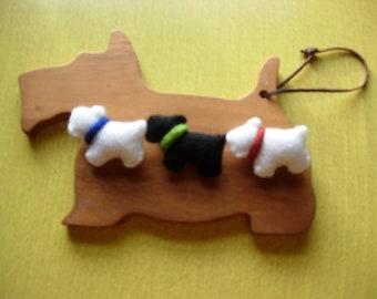 Westie dog brooch