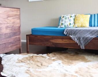 American Modern Walnut 5 Drawer Dresser