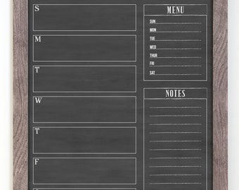 Exceptional 18x24 Weekly Calendar, Weekly Chalkboard Dry Erase Planner, Custom Framed  Calendar For Command Center Good Looking