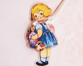 Dolly Dingle Makes a Dress - Laminated Paper Doll