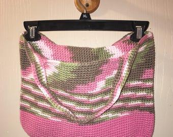 Pink Camo Market Bag