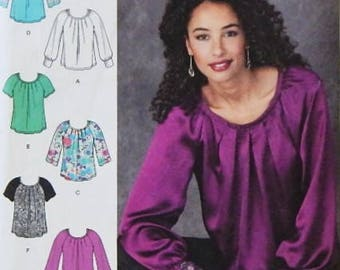 Simplicity 1315 Pullover Blouse Pattern - Misses' Sizes US (14-22), Euro (40-48), FR (42-50) - Simplicty Pattern - Uncut