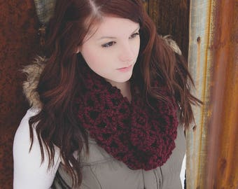 Crochet Pattern for Morgan Scarf or Cowl - Any Size - Welcome to sell finished items