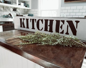Farmhouse rustic shabby chic kitchen sign