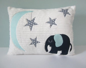 Nighttime Sleepy Elephant Pillow