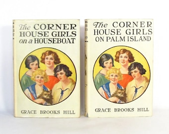 2 Corner House Girls novels in FINE condition with exceptionally nice Dust Jackets - RARE