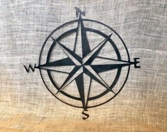 Decorative Metal Compass