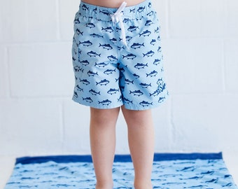 Size 6-6X Finn Boys' Swim Trunks, Personalized Boys Swimwear