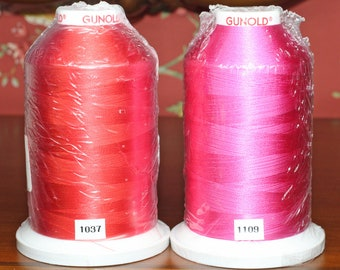 Sulky machine embroidery thread, 40 weight, rayon viskose, 5,500 yards is color fast, washable and dry cleanable.