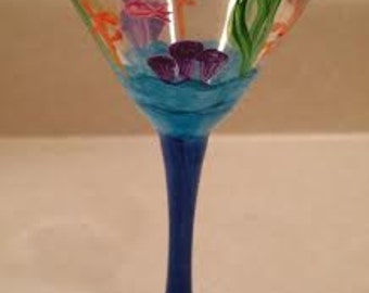 Under the Sea Martini Glass