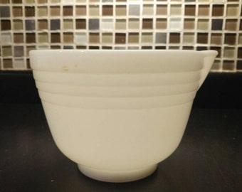 Milk Glass mixing bowl # 11