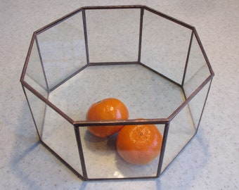 Glass Octagon Display Case - for your special treasures