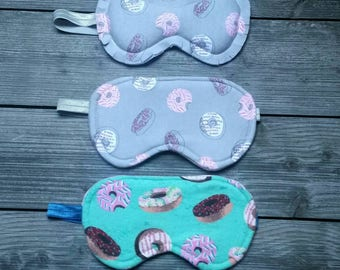 Donut Sleep mask , Eye Mask, Donut Day, Sleep, Sleeping Mask, Hygge, Sleep Eye Mask, Travel Mask, Doughnuts, Donuts, Limited Edition