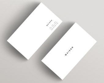 Maison | Minimalist Business Card Template | Business Card Template