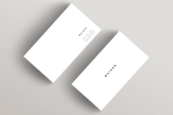 maison minimalist business card template business card
