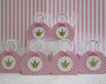 Princess Favor Boxes, Princess Party Favors, Princess Party, Princess Birthday, Princess Favors, Princess Purse Favor Boxes, Princess Bags.