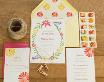 Splendid Wildflower Invitation Suite SAMPLE PACK