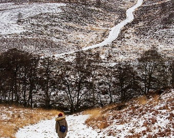 Landscape Photography Print- Snowy Hills - Cannock Chase, Staffordshire
