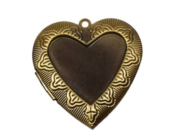 Bronze medallion Locket Heart Locket pendant