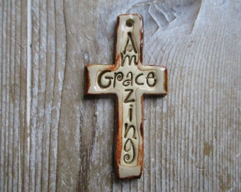 Amazing Grace Cross Pendant