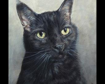 Cat portrait Custom Pet portrait, Cat Painting, oil painting on canvas,  your photos. ***Lowest price is 50% DEPOSIT price***
