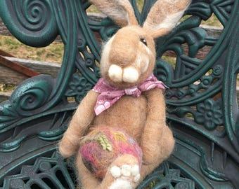 Needle Felted Bunny Rabbit, Tan Bunny, Felted Rabbit, Felted Animal