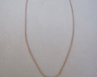 """Petite Rose Gold Pine Cone on a 1mm 18"""" Rose Gold Snake Chain"""