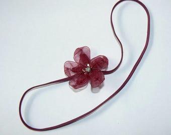 Bandeau Fleur Prune