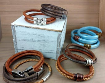 Men's Leather Braclets