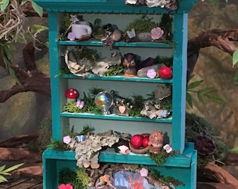 Aurora, Briar Rose, miniature fairy cupboard, hutch