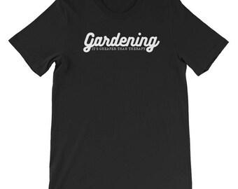 Jardinage son moins cher que la thérapie T-shirt-cadeaux pour légumes jardiniers jardinage-jardinage jardinage-végétarien-végétalien T-shirts - chemises
