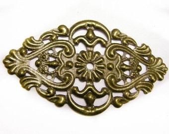 8pc antique bronze filigree wraps-4194