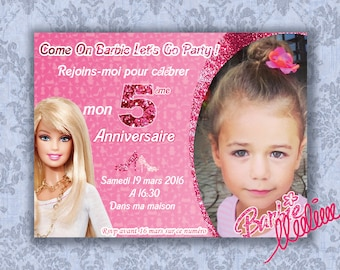 Barbie Invitation Card | Barbie Birthday Card | Barbie Theme Birthday | Barbie Invite