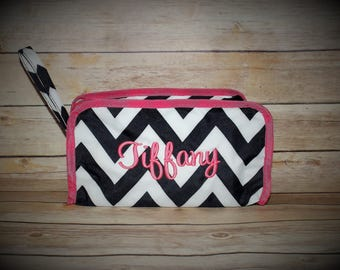 Monogrammed Chevron Cosmetic Travel Bag, Chevron Cosmetic Bag, Cosmetic Bags, Cosmetic Case, Monogrammed Cosmetic Bag, Makeup bag,Travel Bag