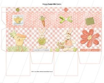Digital Printable Easter Milk Carton