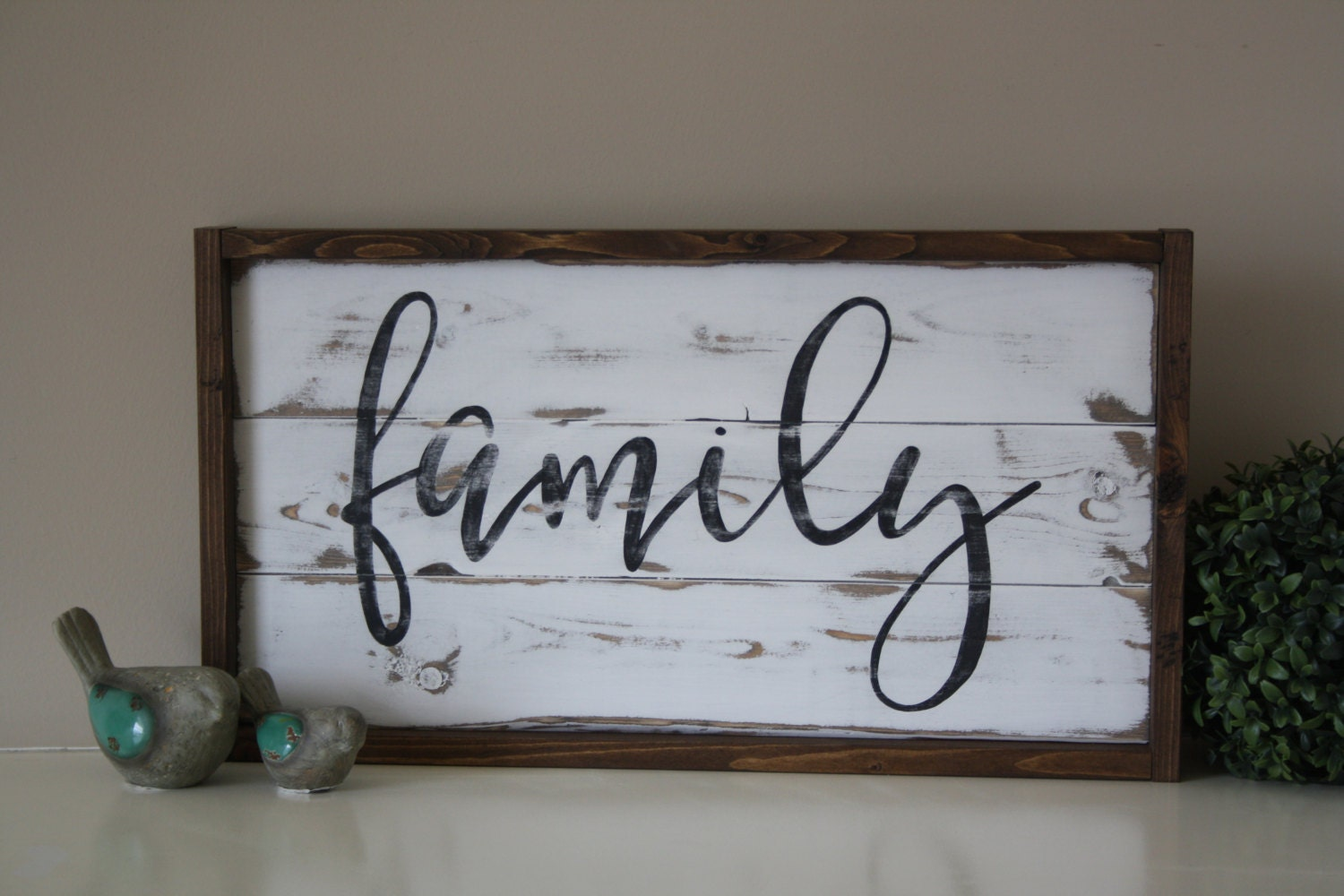 zoom Wooden family sign Reclaimed wall art