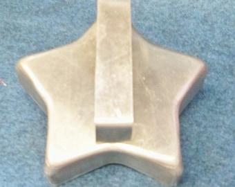 Vintage Star Cookie Cutter ~ 1940's Aluminum Five Pointed Star Cookie Cutter ~  Cookie Recipe Mint
