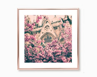 Cherry blossom art, mothers day gift, Paris wall art, extra large wall art, Paris photography, Paris print, wall art canvas, Paris decor