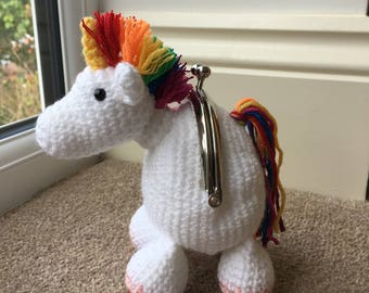 Rainbow Unicorn Coin Purse Crochet Pattern
