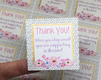 Thank You Stickers   Shopping Small Stickers   Package Stickers   Shipping Stickers   Small Business Stickers
