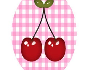 lovely cherry cabochons, 30x40mm