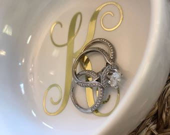 First Initial Ring Dish/Bridesmaids Gift