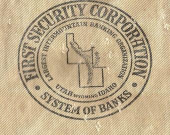 Antique Cloth Money Bag Utah Idaho Wyoming Bank