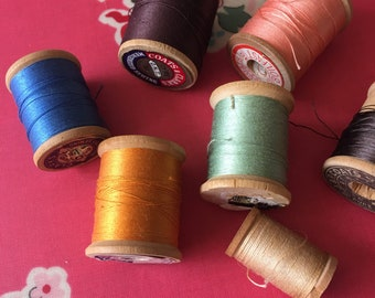 Vintage Coats and Clark, JP Coats And Warren thread and spools